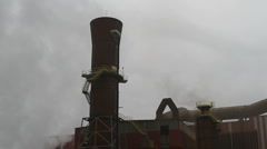 Foundry chimneys Stock Footage