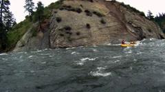 River Rafting POV Stock Footage