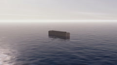 Noah's Ark in the Sea Stock Footage