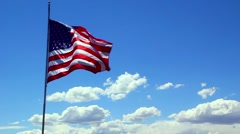 American Flag Slow Motion Stock Footage