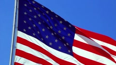 4th of July Flag Stock Footage