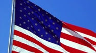 Stock Video Footage of 4th of July Flag