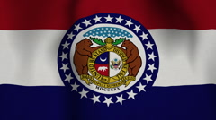 USA State Flag Loop - Missouri - stock footage