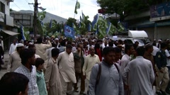 Islamic Party holds Protest Rally in Abbottabad, Pakistan - stock footage