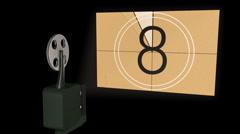 Film projector HD Alpha - stock footage