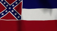 Stock Video Footage of USA State Flag Loop - Mississippi