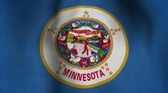 USA State Flag Loop - Minnesota Stock Footage