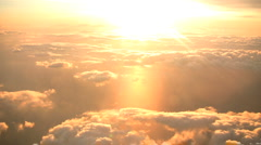 Sunset above the clouds Stock Footage