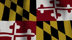 USA State Flag Loop - Maryland - stock footage