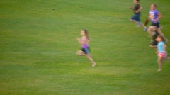 People running in slow motion Stock Footage