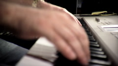 Close Up of Hands Playing a Keyboard Stock Footage