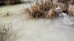 Frozen Mountain Lake in Estes Park Stock Footage