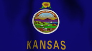 Stock Video Footage of USA State Flag Loop - Kansas