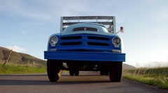 Old Farm Truck Dolly Stock Footage