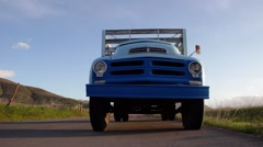 Old Farm Truck Dolly Shot Stock Footage
