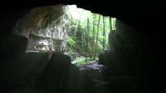 Cave Entryway Stock Footage