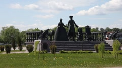 Monument to Peter the Great Stock Footage