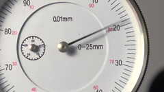 Needle deflection on a dial indicator, precision engineering, seamless loop Stock Footage