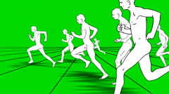 MEN RUNS ON A GREEN SCREEN fast vers Stock Footage