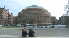 Royal Albert Hall 1 60i Stock Footage