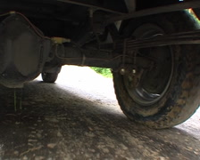 Wheels, back axle - stock footage