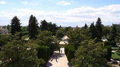 Jardines De Sabatini 07 Madrid Stock Footage