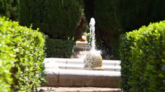 Jardines De Sabatini 08 Madrid Stock Footage