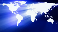 "world map blue  "" Think Different "" - stock footage"