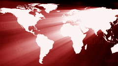 World map red perspektif Stock Footage
