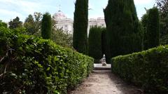 Jardines De Sabatini 01 Madrid Stock Footage