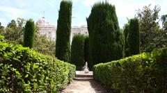 Jardines De Sabatini 02 Madrid Stock Footage