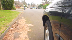 Driving Car from Tires POV - stock footage