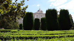 Jardines De Sabatini 03 Madrid Stock Footage