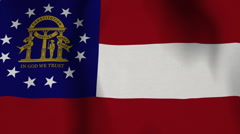 USA State Flag Loop - Georgia - stock footage