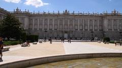 Palazzo Reale Di Madrid 02 Plaza De Oriente Stock Footage