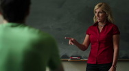 Teacher in the classroom Stock Footage