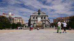 Plaza De Oriente 03 Madrid Stock Footage