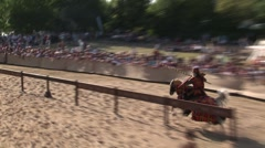 Medieval knights joust - Historical movie - stock footage