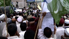 Anti American Protest in Abbottabad, Pakistan - stock footage