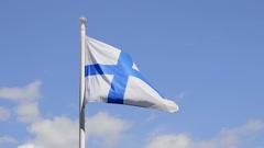 Finnish Flag Stock Footage