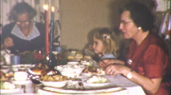 FAMILY DINNER Christmas Thanksgiving 1950s Meal Vintage Film 8mm Home Movie 10 Stock Footage