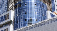 Building of business centre Stock Footage