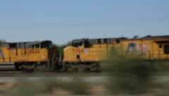 Arizona Train near Mexico Border (HD) Stock Footage