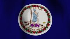 USA State Flag Loop - Virginia Stock Footage