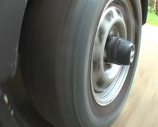 Wheel on the run - stock footage
