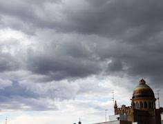 4K European Scene Clouds Timelapse 03 Stock Footage