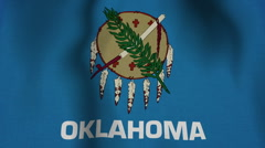 USA State Flag Loop - Oklahoma - stock footage