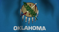 Stock Video Footage of USA State Flag Loop - Oklahoma