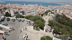 Marseille France from hill P HD 0277 Stock Footage