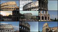 Coliseum Montage, Rome - HD1080 Stock Footage